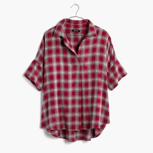 Madewell Courier Shirt in Farifax Plaid - Size S